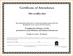 6 Certificate Of Attendance Template Memo Templates