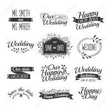 set of wedding vintage retro signs, labels, stickers Wedding Font Retro set of wedding vintage retro signs, labels, stickers typographical background with floral ornaments Art Deco Font