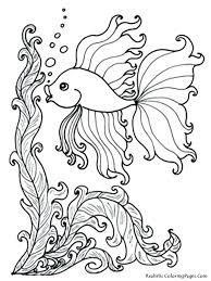 Tropical Fish Coloring Pages Realistic Fish Coloring Pages Medium