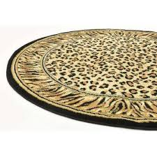 wildlife cheetah light brown 4 0 x 4 0 round rug