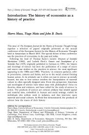 papers tiago mata introduction the history of economics as a history of practice