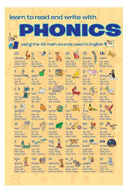 best english language learning ideas english educational phonics mini poster 16 x 20in