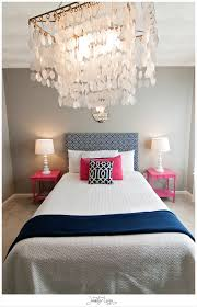 Small Bedroom Chandelier Navy And Pink Bedroom With Chandelier How Could You Say No To This
