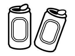 缶ジュースの白黒イラスト02 かわいい無料の白黒イラスト モノぽっと