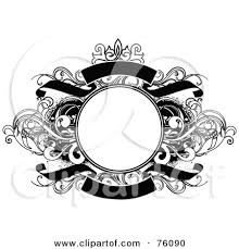 Decorative Text Boxes RoyaltyFree RF Clipart Illustration of a Decorative Black And 43