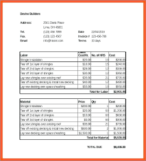 Roofing Invoice Roofing Invoice Blank Job Template Receipt Free 3 Chaseevents Co