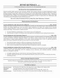 System Administrator Resume Unique System Administrator Resume Template Resume Format System