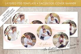 photography facebook cover banner template for adobe photo layered psd template design