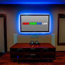 led entertainment center and a room lighting modern home theater