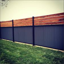 captivating diy corrugated metal and wood fence ideas