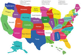 usa states map us states map america states map states map of
