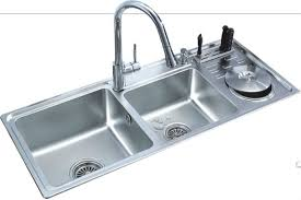 stainless steel kitchen sink with dish drainer bk 8805