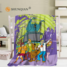 jqk333j custom scooby doo pattern travel blanket home tv casual relax for family soft fluffy warm blanket lightweight throw blanket microfleece throw