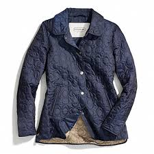 COACH F83637 - SIGNATURE C QUILTED HACKING JACKET - NAVY - COACH ... & COACH f83637 SIGNATURE C QUILTED HACKING JACKET NAVY Adamdwight.com