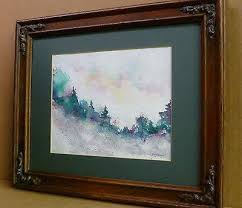 Soft Piney Forest Weber Original WC Abstract Painting Landscape ...