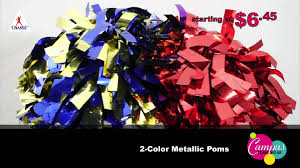 chasse s metallic poms add a little bling to your cheerleader s routine