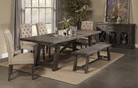 Rustic Dining Table  Chairs  Rustic Bench Pierre PC - Rustic chairs for dining room