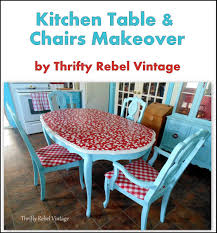 Kitchen Table Makeover My Kitchen Table Makeover Is Blooming Thrifty Rebel Vintage