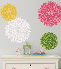 inspirational flower wall stencils for painting decorations full size colors large branch her with modern walls