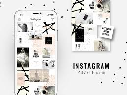 Instagram Puzzle Template Pink By Social Media Templates