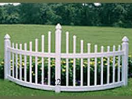 Curved Vinyl Picket Accent Model 225