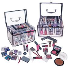 shany carry all trunk makeup set eye shadow palette blushes powder nail polish and more walmart