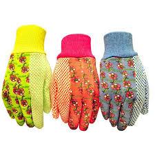 garden gloves. G \u0026 F Soft Jersey Garden Gloves, 3 Pairs, Green/Pink/Blue Gloves