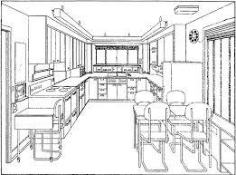 kitchen drawing perspective.  Kitchen U Shaped Kitchen Perspective Throughout Kitchen Drawing Perspective E