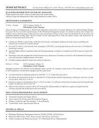 distribution center manager resumefree resume templates