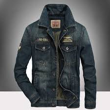 <b>Spring</b> Autumn Casual Retro Denim <b>Jacket Men</b> Outwear <b>Military</b> ...