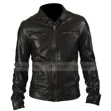 mens two zipper pocket style black leather jacket zoom mens