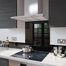 Black Splashback Kitchen Premier Range Black Glass Splashback Heat Resistant Toughened