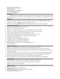 Software Testing Resume Format Software Testing Fresher Resume