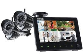 sd pro wireless surveillance system with a 7 lcd screen with remote monitoring lorex