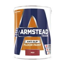 Armstead Trade Anti Slip Floor Paint Red 5 Litre