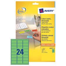 Avery Laser Label 63 5x33 9 Green 20 L6033