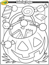 Halloween Treats Coloring Page Crayolacom