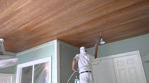 how to paint wood ceilings using graco airless sprayer florida painter you