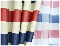 red white curtains blue and white striped curtains design ideas red curtains white stars