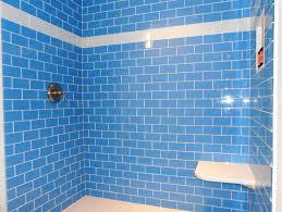 Blue Tiled Bathrooms Periwinkle Glass Subway Tile Modwalls Lush 3x6 Tile Modwalls Tile