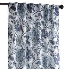 Navy Blue Bedroom Curtains Meadow Floral Curtain Indigo 84 Great Curtains For The Dining