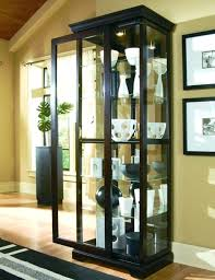 pulaski curved glass curio cabinet medium size of corner in for curved glass home interiors