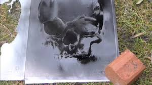Stencil Spraypaint Spray Paint Stencil Skul Youtube
