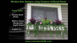outdoor artificial flowers a compilation of window plants