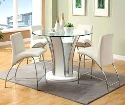 decoration square glass counter height dining table