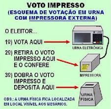 Resultado de imagem para voto impresso