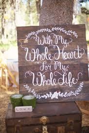 pretty rustic wedding sign from woodsy sierra nevada wedding