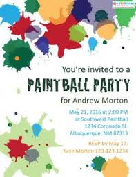 Free Printable Paintball Party Invitations Lovetoknow