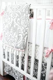 grey and pink crib bedding nursery bedding gray collection pink and grey elephant crib bedding canada