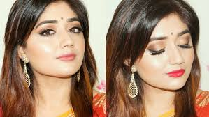 indian festive makeup gold smoky eyes tutorial colors at lifestyle clista you